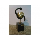西班牙抽象鳥雕塑+大理石座 y09908 立體雕塑.擺飾 立體雕塑系列-動物雕塑系列