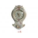 歐風彩繪時鐘 y09924  時鐘.溫度計.鏡子 溫度計.壁掛鐘 歐風彩繪時鐘(三款花樣)-日本機芯