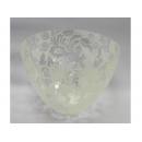 y09932雕紋玻璃花器(白色)