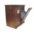 y10023西班牙鄉村風情-紐西蘭雲杉木分類垃圾桶收納椅-台灣製造