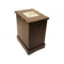 y10024西班牙鄉村風情-紐西蘭雲杉木加高垃圾收納桶椅-台灣製造