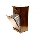 y10026西班牙鄉村風情-紐西蘭雲杉木面紙盒前開垃圾櫃-台灣製造