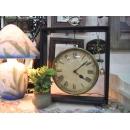 木質方型桌鐘(大) y10060 時鐘.溫度計.鏡子 桌鐘