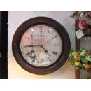 鐵製圓形壁鐘 y10062 時鐘.溫度計.鏡子 溫度計.壁掛鐘
