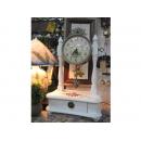 實木手工彩繪粉玫瑰桌鐘 y13466 時鐘.溫度計.鏡子 桌鐘 實木手工彩繪粉玫瑰桌鐘(白色系列)