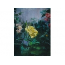 黃玫瑰花油畫-畫家:張凱洋-y10073