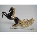鍍金駿馬酒架-黑金色 y10077  立體雕塑.擺飾 電鍍擺飾系列