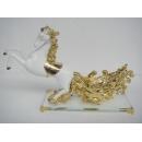鍍金駿馬酒架-白金色 y10078 立體雕塑.擺飾 電鍍擺飾系列