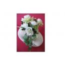y10112 花藝 人造花材  (白玫瑰)