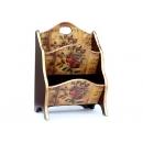 y10189-傢俱-木製貼圖傢俱-典藏玫瑰貼圖傢俱-雙層雜誌架