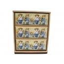 y10207-傢俱-木製貼圖傢俱-姊弟熊貼圖傢俱-桌上型三抽櫃