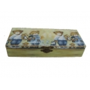 y10210-傢俱-木製貼圖傢俱-姊弟熊貼圖傢俱-鉛筆盒
