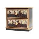 y10240-傢俱-木製貼圖傢俱-蜜蜂熊貼圖傢俱-桌上二抽櫃