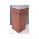 y10265-傢俱-玄關桌羅馬柱花檯-鏽鐵展示檯(中)