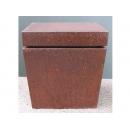 y10266-傢俱-玄關桌羅馬柱花檯-鏽鐵展示檯(低)