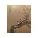 y10297-國畫-花鳥畫-陳牧-嬌花迎露發