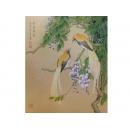 y10301-國畫-花鳥畫-陳牧-紫藤飄香(已售出)