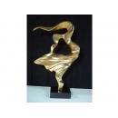 電鍍雕塑-躍然起舞 電鍍金 y10633 立體雕塑.擺飾 電鍍擺飾系列