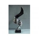 電鍍雕塑-升騰 電鍍銀 y10643 立體雕塑.擺飾 電鍍擺飾系列