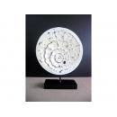 花開富貴(刷白效果) y10646 立體雕塑.擺飾 立體擺飾系列-幾何、抽象系列