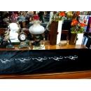 y10785-桌旗.桌巾.桌墊-鑽石床尾巾-黑(紫)