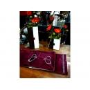 y10787-桌旗.桌巾.桌墊-鑽石愛心桌旗-紫(黑)