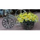 y10802-花器系列-鐵製花器-自行車花架(銀金)