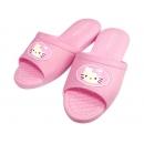 y10813-KITTY凱蒂貓系列-KITTY粉紅色室內拖鞋