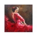 舞蹈題材-佛朗明哥-y10838-畫作系列-油畫-油畫人物