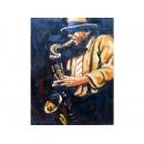 音樂題材-薩克斯風-y10839-畫作系列-油畫-油畫人物