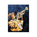 音樂題材-小喇叭手-y10840-畫作系列-油畫-油畫人物