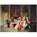 音樂題材-音樂饗宴-y10842-畫作系列-油畫-油畫人物
