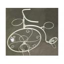 y10843-花器系列-鐵製花器-白色腳踏車花架(6011D2193)