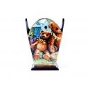 y10887-傢俱系列-木製貼圖傢俱-草地熊小筆筒
