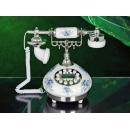 y11016 陶瓷仿古電話系列-雅蘭(藍銀)