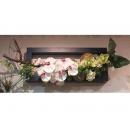 y11019 人造花藝-蘭花山茶花籐球壁式造型花藝