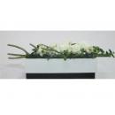 y11024 人造花藝-白玫瑰造型花藝 盆花