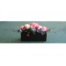 y11027 人造花藝-玫瑰花果樹枝造型花藝 盆花
