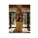 y11037 人造花藝-蘭花樹枝造型花藝 盆花