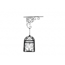 y11071-鐵材藝術-懸掛式方形鳥籠燭臺(可當花架)