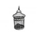 y11073-鑄鐵花架-懸掛式鑄鐵鳥籠花架