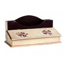 y11082-木製貼圖傢俱-喜白玫瑰貼圖-2格筆插