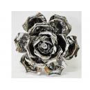 陶瓷電鍍銀-玫瑰擺飾 y11091 立體雕塑.擺飾 電鍍擺飾系列--無庫存
