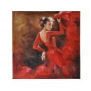 佛朗明哥舞孃-y11093 油畫人物-舞蹈