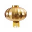 y11103 春節飾品-新年佈置-帆雨布燈籠100cm一對-金色(紅色)