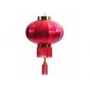 y11104 春節飾品-新年佈置-帆雨布燈籠120cm一對-紅色(金色)