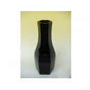 y11122 木製花器-鋼琴烤漆-小六角花器-黑(白)