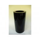 y11139 木製花器-鋼琴烤漆-小圓柱花器-黑(白)