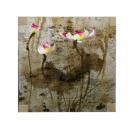 y11167 版畫-手繪金箔版畫-荷花(銀)