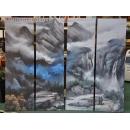 y11170 國畫複製 - 山水畫 (4幅一套)
